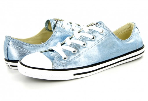 CONVERSE 555906 BLUE COAST/BLACK/WHITE CHUCK TAYLOR ALL STAR DAINTY 22