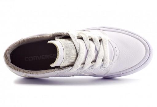 CONVERSE 651825 CA WHITE/WHITE TRE STAR  17-22
