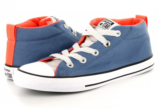 CONVERSE 656068 BLUE COAST/MOUSE/HYPER ORANGE CHUCK TAYLOR ALL STAR STREET 17
