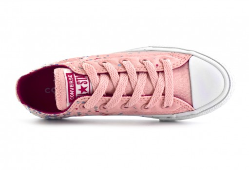CONVERSE 661838 STORM PINK/PINK POP/WHITE CHUCK TAYLOR ALL STAR CONFETTI OX  17-22
