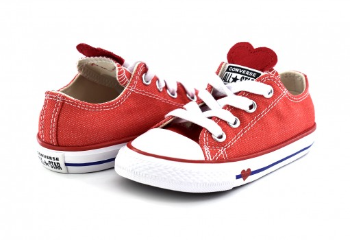 CONVERSE 763568 SEDONA RED/ENAMEL RED/BLUE CHUCK TAYLOR ALL STAR DENIM LOVE OX  11-16.5