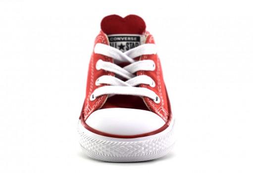 CONVERSE 763568 SEDONA RED/ENAMEL RED/BLUE CHUCK TAYLOR ALL STAR DENIM LOVE OX  11-16.5