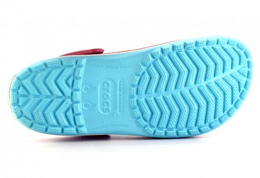 CROCS 11016 -4S3 ICE BLUE/WHITE CROCBAND  22-31