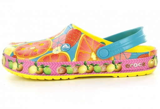 CROCS 204092 -7C1 LEMON CROCBAND FRUIT CLOG  22-27