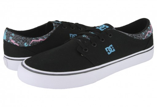 DC SHOES ADYS 300123 BFL BLACK/FLUORESCENT TRASE TX SE M SHOE BFL  25-31