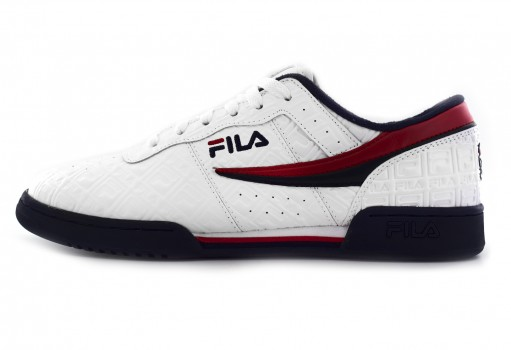 FILA 1FM 00128 125 WHITE/NAVY/RED ORIGINAL FITNESS SMALL F-BOX  24.5 - 31