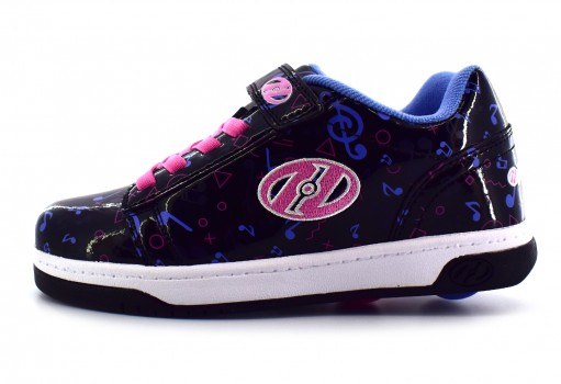 HEELYS HE 100308 B8C BLACK HOLOGRAM/PINK/PURPLE  17-24