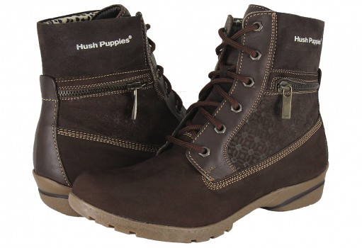 HUSH PUPPIES HF5093 OLDEST DRUMMY CHOCOLATE  22.0 - 27.0