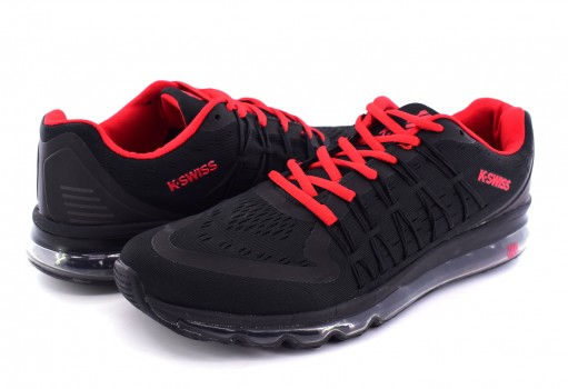 K-SWISS 0F049 016 BLACK / RED RYZER  26-30
