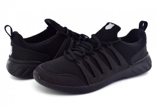 K-SWISS 0F200 001 BLACK MONOCHROME SCARLET  25 30