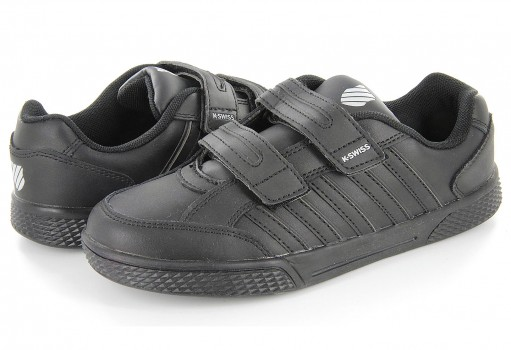 K-SWISS 52940 002 BLACK KID COURT  17-22