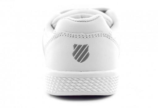 K-SWISS 52940 101 WHITE/WHITE KID COURT  17-22