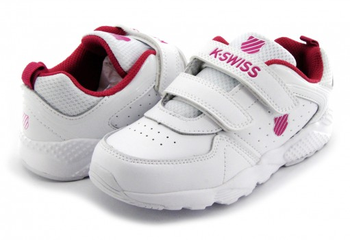 K-SWISS 5F143 187 WHITE/PINK ROCKET  17-22