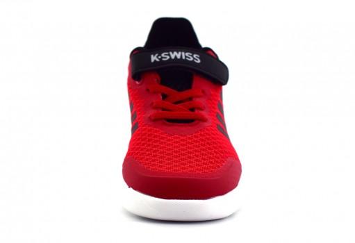 K-SWISS 5F193 610 RED/BLACK HUANTER  17-22