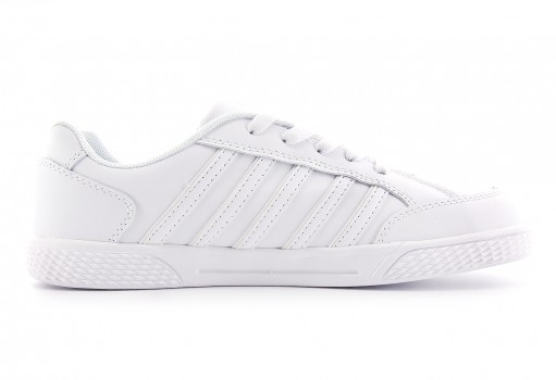 K-SWISS 82940 101 WHITE/WHITE KID COURT  22.0-26.5