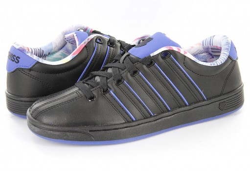 K-SWISS 95063 017 BLACK/BLACK/ELECTRIC BLUE COURT PRO II SP CMF  23-27