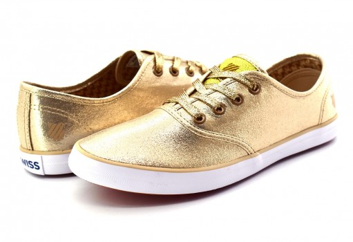 K-SWISS 9F055 715 GOLD/WHITE BEVERLY  22-27