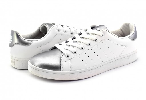 K-SWISS 9F189 155 WHITE SILVER SQUARE III  22-27