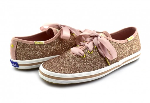 KEDS KY 59463 KY ROSE GOLD CHAMPION GLITTER  14-22