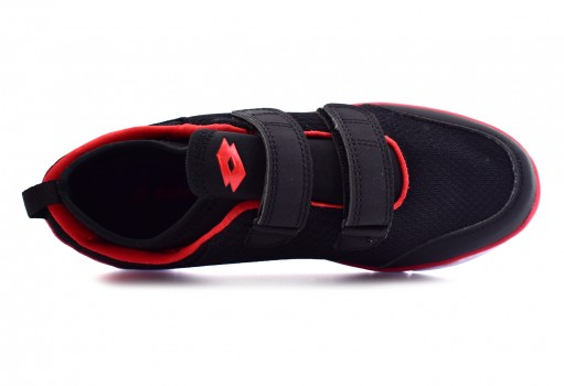 LOTTO H5246 BLACK/RED GROTTY  17-22