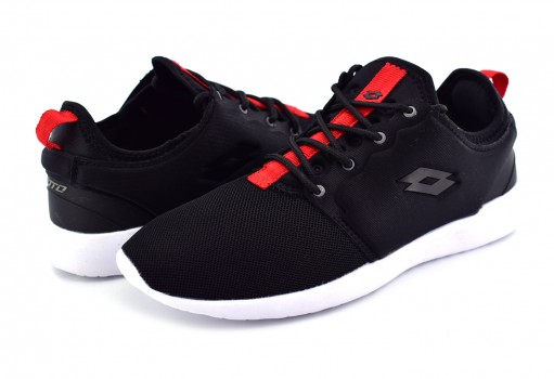 LOTTO H9233 BLACK/RED TEZLA W  22-27