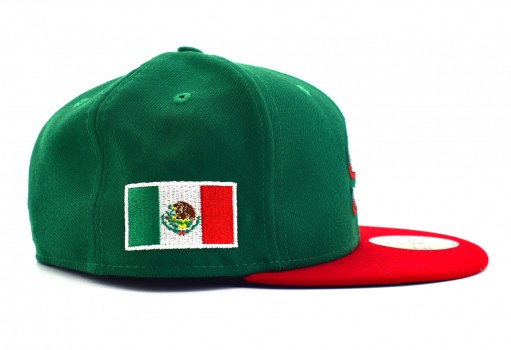 NEW ERA 70 432823 70 MEXICO GREEN SCARLET SERIE DEL CARIBE MEX  55-62