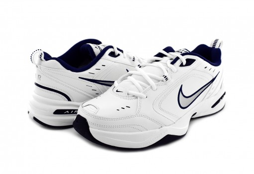NIKE 415445 102 WHITE/METALLIC SILVER-MID NAVY AIR MONARCH IV  25-31