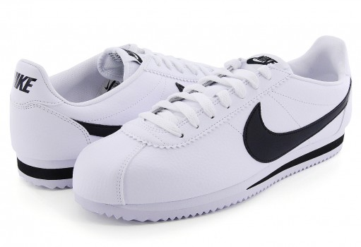 NIKE 749571 100 WHITE/BLACK CLASSIC CORTEZ LEATHER  25-30