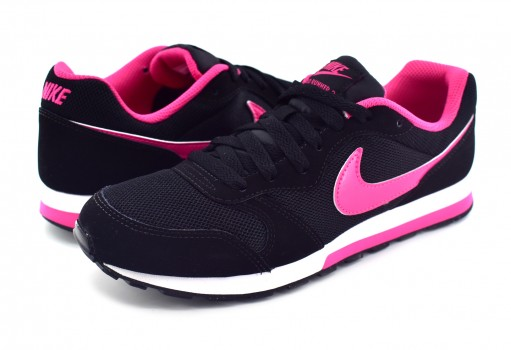 NIKE 807319 006 BLACK/VIVID PINK-WHITE MD RUNNER 2 (GS)  22.5-25
