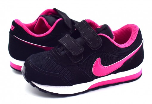 NIKE 807328 006 BLACK/VIVID PINK-WHITE MD RUNNER 2 (TDV)  12-16