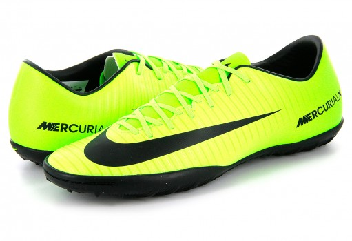NIKE 831968 303 ELECTRIC GREEN/BLK-FLSH LM-WHT MERCURIALX VICTORY VI TF  25-30