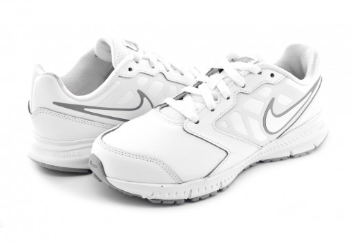 NIKE 832883 100 WHITE/WHITE-BLACK-WOLF GREY NIKE DOWNSHIFTER 6 LTR (GS/PS)  17-25