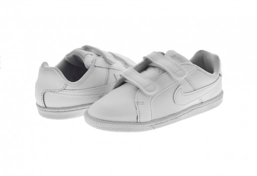 NIKE 833537 102 WHITE/WHITE COURT ROYALE  12-16