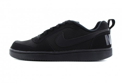 NIKE 839985 001 BLACK/BLACK-BLACK COURT BOROUGH LOW (GS)  22.5-25