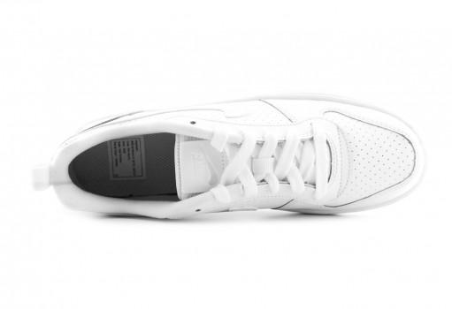 NIKE 839985 100 WHITE/WHITE-WHITE COURT BOROUGH LOW (GS)  22.5-25