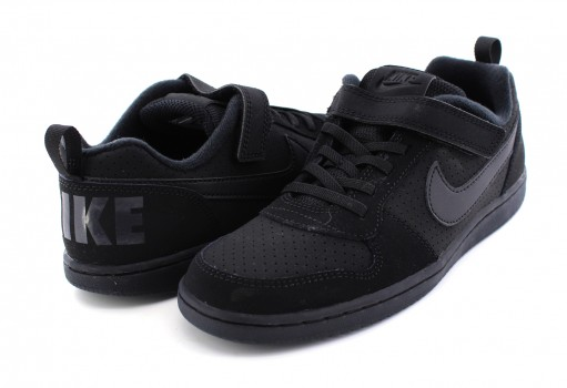 NIKE 870025 001 BLACK/BLACK COURT BOROUGH LOW (PSV)  17-22
