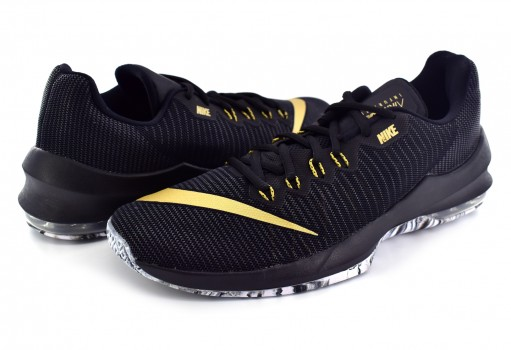 NIKE 908975 090 BLACK/MTLC GOLD-ANTHRACITE-WHITE AIR MAX INFURIATE LOW  25-31