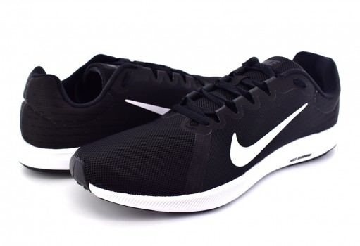 NIKE 908984 001 BLACK/WHITE-ANTHRACITE DOWNSHIFTER 8 GS  25-31