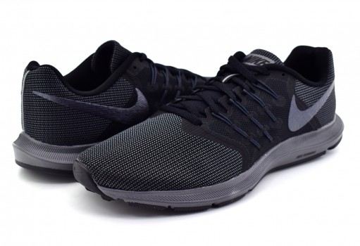NIKE 908989 010 BLACK/MTLC HMTT RUN SWIFT 25