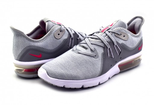 NIKE 908993 012 PURE PLATINUM/RCR PINK AIR MAX SEQUENT 3 22