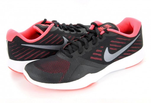 NIKE 909013 006 BLACK/MTLC COOL GREY-SOLAR RED WMNS CITY TRAINER  22-27