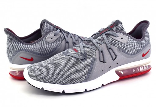 NIKE 921694 060 COOL GREY/UNIV RED-WOLF GREY AIR MAX SEQUENT 3  25-30