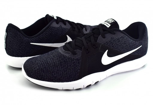 NIKE 924339 001 BLACK/WHITE-ANTHRACITE FLEX TRAINER 8  22-27