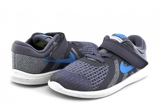 NIKE 943304 014 COOL GREY/BLUE FURY-PURE PLATINUM-BLACK REVOLUTION 4 BTV  12-16