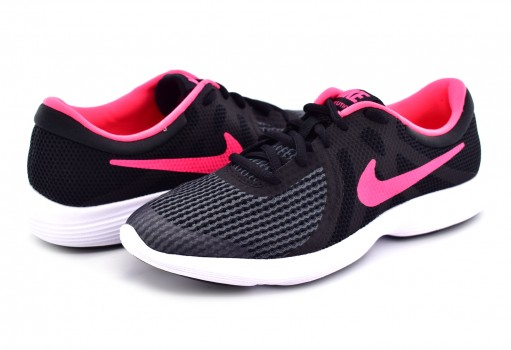 NIKE 943306 004 BLACK/RACER PINK REVOLUTION 4 (GS) 22.5