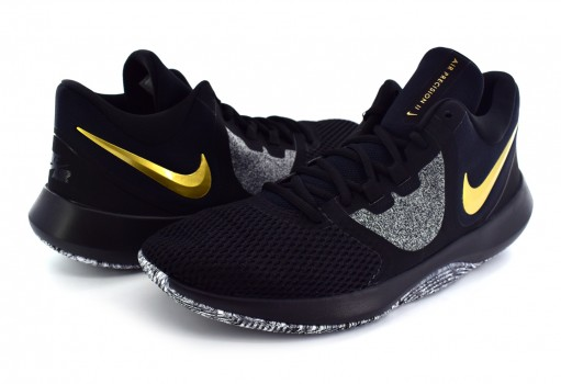 NIKE AA7069 090 BLACK/MTLC GOLD-WHITE AIR PRECISION II  25-32