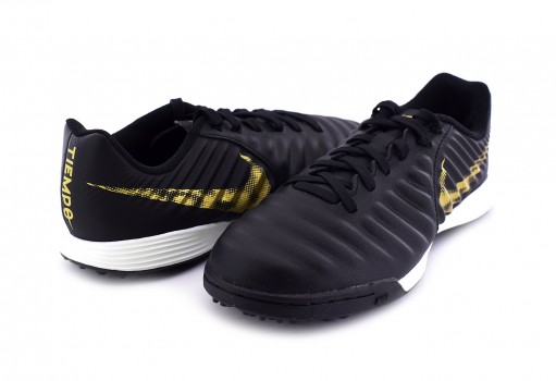 NIKE AH7259 077 BLACK/MTLC VIVID GOLD JR LEGEND 7 ACADEMY TF  17-24