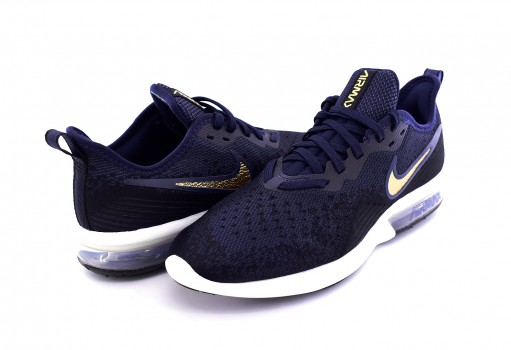 NIKE AO4486 003 BLACK/MTLC GOLD-OBSIDIAN-WHITE AIR MAX SEQUENT 4  22-27