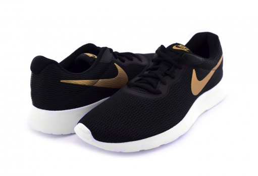 NIKE AQ7154 001 BLACK/METALLIC GOLD-WHITE TANJUN  25-30