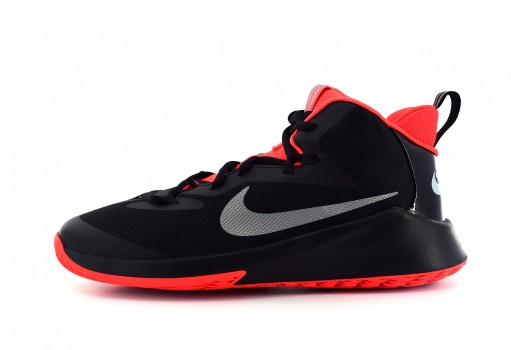 NIKE AR2672 001 BLACK/REFLECT SILVER-BRT CRMSN FUTURE COURT JDI (GS)  22.5-25
